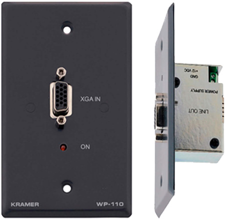 Kramer WP-110(W) Active Wall Plate - Computer Graphics Video Transmitter - White