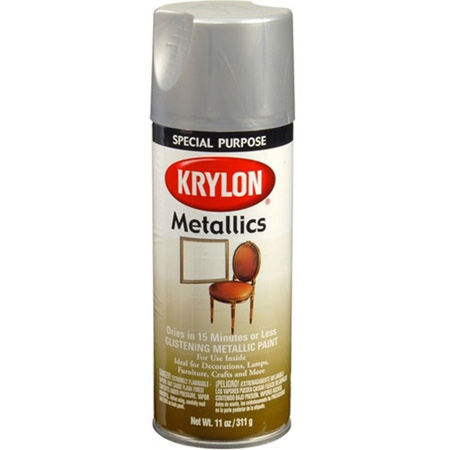 Krylon Dull Aluminum Color Spray Paint 12 Ounce