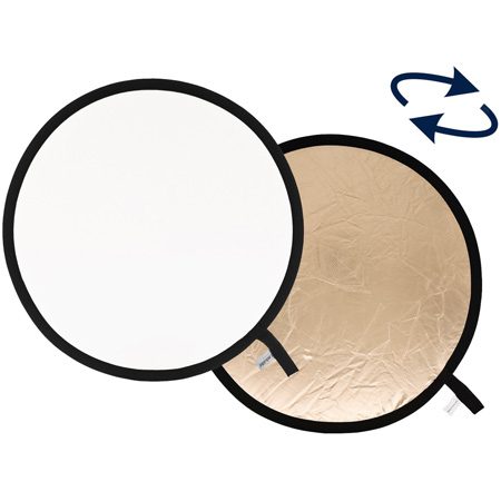 48in Collapsible Reflector Gold and White