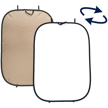 6ft x 4ft Collapsible Gold and White Reflector