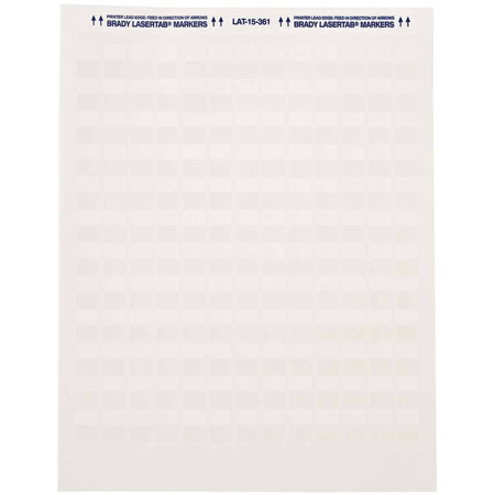 Brady LAT-17-361-1 1x1 Inch Printable Polyester Labels (1000 Pack)