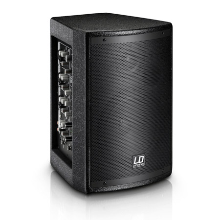 LD Systems MIX6AG2 - 6.5 Inch Active PA Speaker with Integrated 4-Channel Mixer