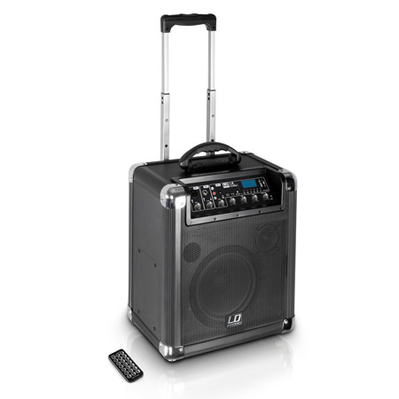 LD Systems ROADJACK 8 - Battery Powered Bluetooth Loudspeaker with Mixer