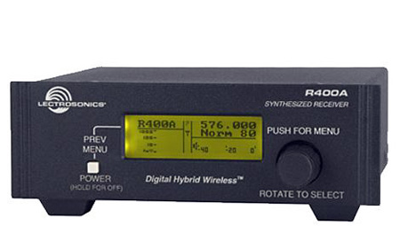 Lectrosonics R400A Digital Hybrid Wireless Diversity Receiver - Block 19- 486.400 - 511.900