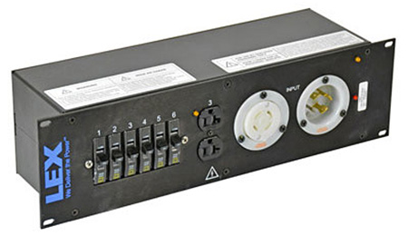 Lex PRM3IN-9CC Rack Mount Power Distribution 3RU