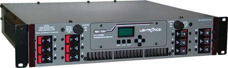 Lightronics RA121 Unity Rack Mount Dimmer