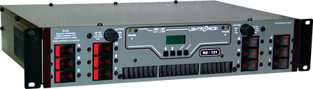 Lightronics RD121 Rack Mount Dimmer with Terminal / Barrier Connector Strip with Knockout Cover