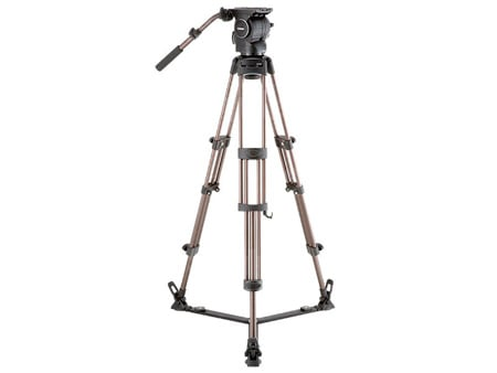 Libec RSP-750C Carbon Tripod System with Floor-level Spreader for ENG Setups