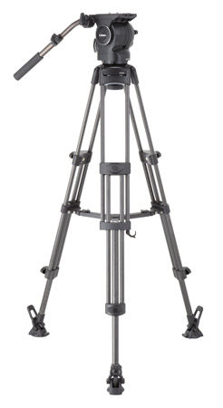 Libec RSP-750MC Carbon Tripod System with Mid-level Spreader for ENG Setups