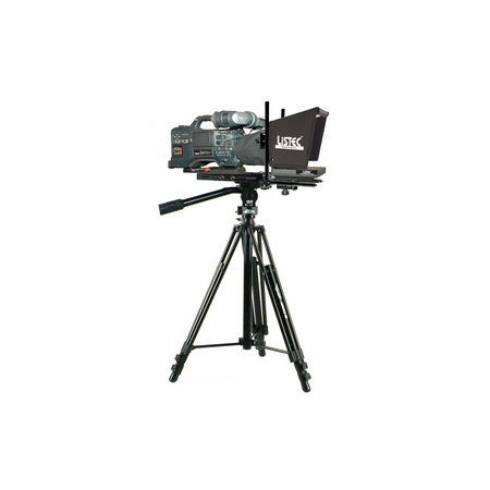 Listec EN-08C 8in On-Camera Teleprompter w/Compact Folding Hood Assembly & Case