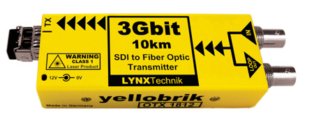 Lynx Technik O TX 1812 MM 3Gbit SDI to Fiber Optic Transmitter - Multimode Fiber LC Connector