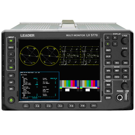 Leader LV7770-OP70 Digital Audio Adaptor Expands LV7770 From 8 To 16 AES/EBU
