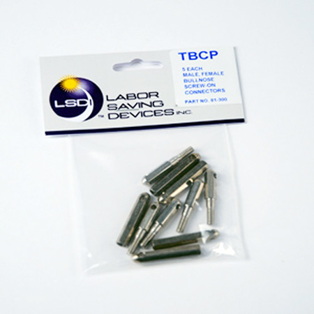 Labor Saving Devices Creep-Zit Replacement Threaded Bull Nose Tip Pack - 5 Males 5 Females