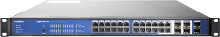 Luminex GigaCore 26i Install 24-Port & 6-SFP Port Gigabit Ethernet Switch