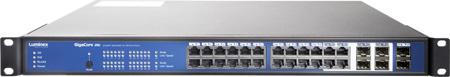 Luminex GigaCore 26i Install 24-Port & 6-SFP Port PoE Gigabit Ethernet Switch