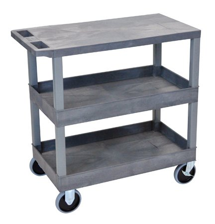 Luxor EC211HD-G Three Shelf Utility Cart