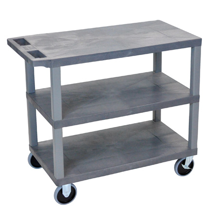 Luxor EC222HD-G Three Shelf Utility Cart