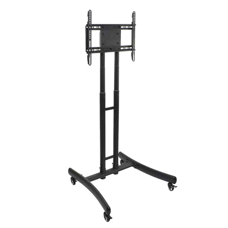 Luxor FP1000 Height Adjustable Rolling TV Stand