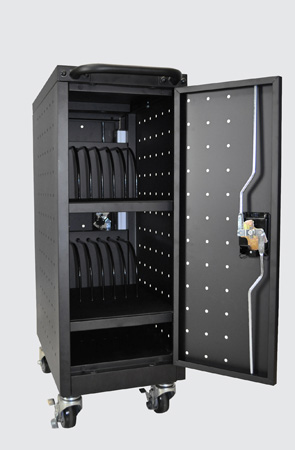 Luxor LLTM16-B-V2 16 Tablet/Chromebook Computer Charging Cart