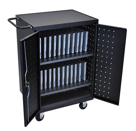 Luxor LLTP24-B 24 Capacity Tablet Charging Cart
