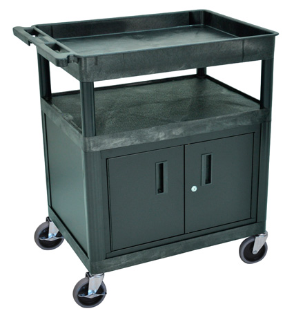 Luxor TC122C-B Three Shelf Utility Cart