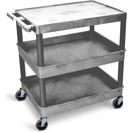 Gray 32x24 Three Shelf Tub Cart