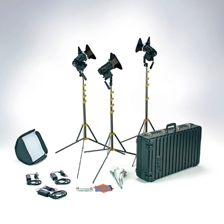 Lowel G5-93DA Pro LED 3-Light AC Kit Daylight with TO-84Z Hard Case