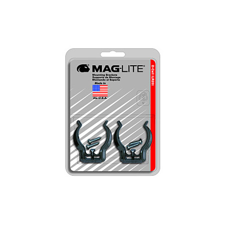 Maglite ASXD026 D-Cell Mounting Brackets. Set of 2