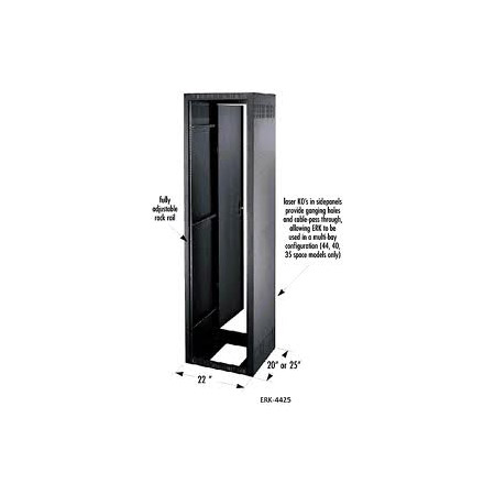 Middle Atlantic ERK-1025KD 10 Space 25 Inch Deep Stand-Alone Enclosure