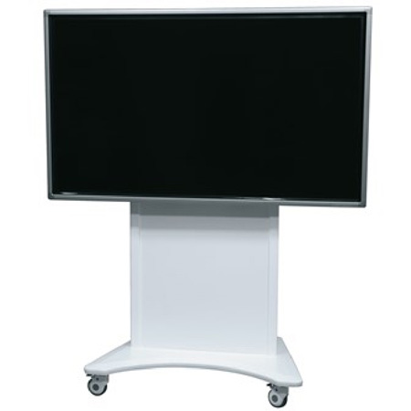 Middle Atlantic FVS-800ESC-WH Flexview Electric Lift Display Cart with 4 Inch Casters - Vesa 800 Mount - White