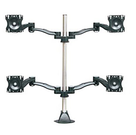 Middle Atlantic MMB-2X2C 2 Level Articulating 2X2 Monitor Mount Chrome