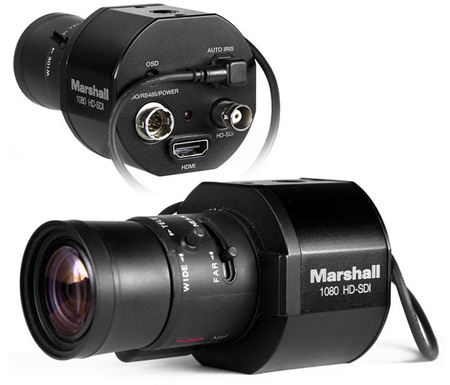 Marshall CV345-CSB Full-HD (3G/HD-SDI) 2.5MP Compact Broadcast Camera with Audio and HDMI (CS/C Mount) Body Only