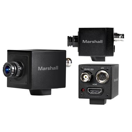 Marshall CV505-M HD/3G-SDI Compact Progressive Camera with Interchangeable 3.7mm 2MP (M12) Lens