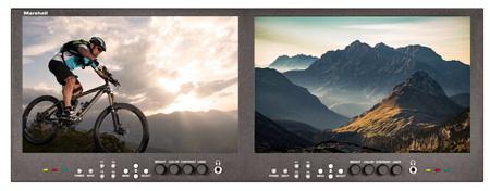 Marshall V-MD1012 Dual Modular 10.0 Inch LCD Rack Monitor