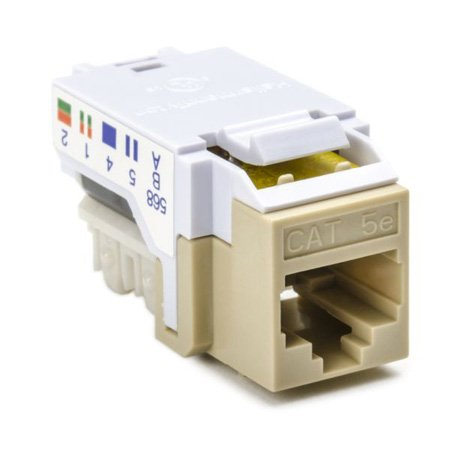 Cat 5e 110 Punchdown Keystone Module-Off White