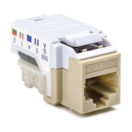 Cat 6 110 Punchdown Keystone Module-Grey