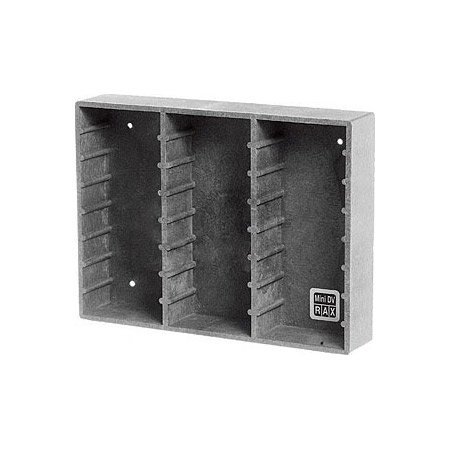 Wall Mount or Stand Alone Rack for 50 Mini-DV Tapes