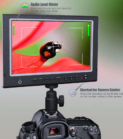 MFM-777S 7 Inch LCD Field Monitor with HDMI Input/Output