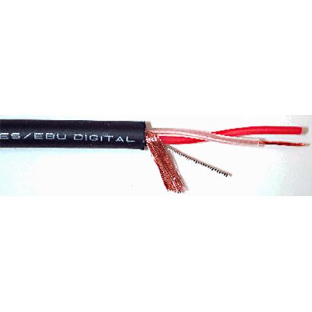 Mogami W3080 2 Cond 110ohm AES/EBU Digital Audio Cable Black PER FOOT