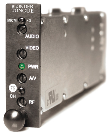 Blonder Tongue MICM-45D HE-12 & HE-4 Series Audio/Video Modulator - Channel 37
