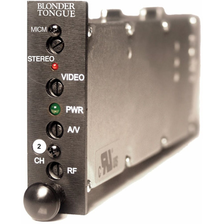 Blonder Tongue MICM-45S Module Sereo AV Modulator 45dB 54-600 MHz Channel 10