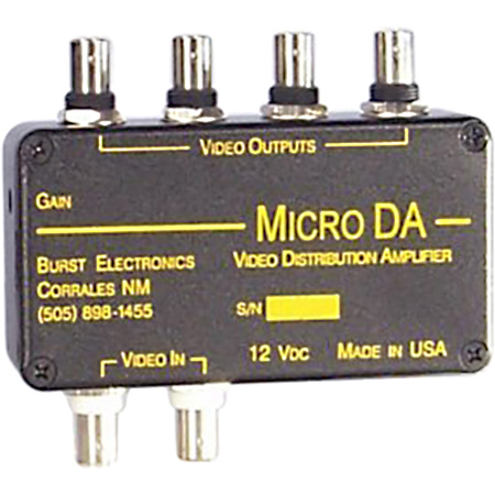 burst microda 1x4 video distribution amplifiermicro_da jpg