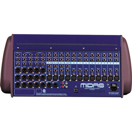 Midas VeniceU16 8 Mono Mic/Line & 4 Stereo Mic/Line Mixer with 8x8 USB Interface
