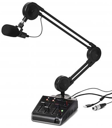 Miktek ProCast SST USB Microphone With 24 Bit Audio Interface and 2-Channel Mixer