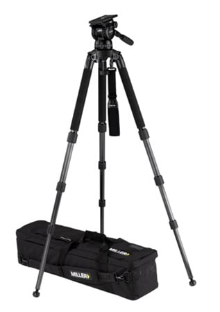 Miller 1857 Compass 25 Solo 100 3-Stage Carbon Fiber Tripod System