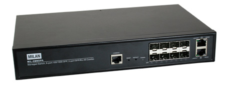 Managed 8-Port Fiber Switch w/2 10/100/1000 Combo Ports