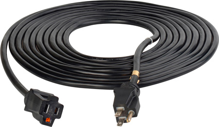 Milspec D16528015 ProPower Cordset 14/3 AC Extension Cord Black - 15 Foot