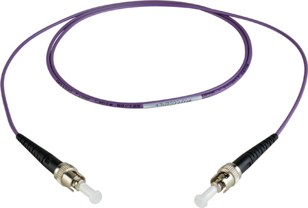 Camplex MMSM4-ST-ST-001 OM4 10/40/100G Multimode Simplex ST to ST Fiber Patch Cable - Purple 1 Meter
