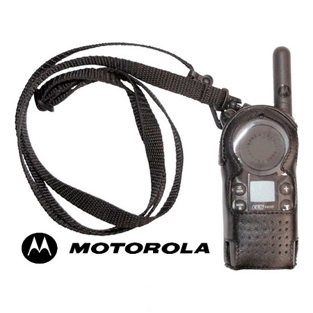 Motorola 56519 Leather Carry Case with Adjustable Shoulder Strap