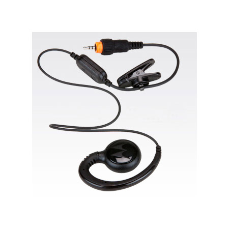 Motorola HKLN4437A Short Cord Lightweight Swivel Earpiece with In-line Mic